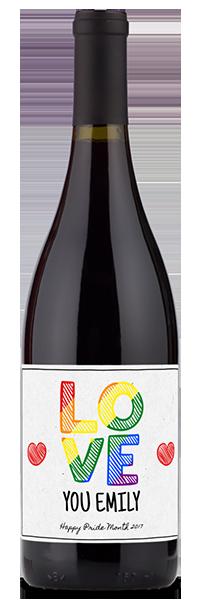 rainbow love wine gift